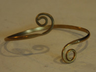 Handmade Brass Spiral Bracelet Guatemala