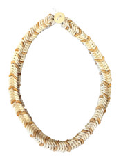 """Handmade Ostrich Shell Beaded Necklace Namibia (7"""" drop)"""