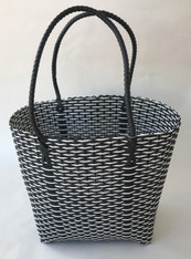 "Handmade Woven Plastic Shoulder Satchel Guatemala (10""w x 11""h)"