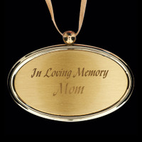 Charm Golden w/gold ribbon (Includes Engraving) - Apply this charm to any urn.