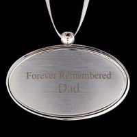 Charm Silver w/silver ribbon (Includes Engraving) - Apply this charm to any urn.