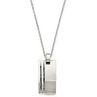 Mens Rectangle Pendant 1.33""