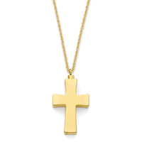 Small Cross Gold Vermeil .875""
