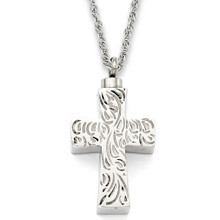 """Etched Cross  1.125"""""""