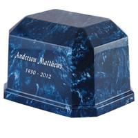 Navy Blue Marble Double - Arizona Urn Store