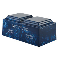 Navy Blue Marble Double - Shown with Optional Engraving