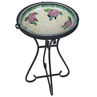 Floral Mosaic Birdbath with Keepsake
