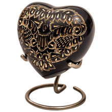 Midnight Ornate Heart Keepsake