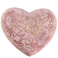 Rose Cloisonne Heart