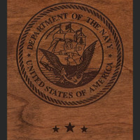 Navy Wood Engraving