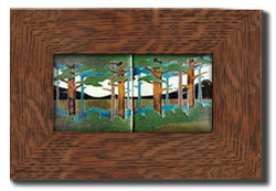 "Dard Hunter 3"" Solid Oak Legacy Frame (fits two 4x4 tile)"