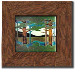 "Dard Hunter 3""Solid Oak Legacy Frame (fits one 8"" x 8"" tile)"