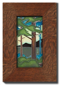 "Dard Hunter 3"" Solid Oak Legacy Frame (fits one 4"" x 8"" tile)"