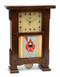 Schlabaugh and Sons Handmade Clock in Craftsman Oak with Autumn Edibles Tile