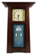 Handmade Tile Clock: Solid Oak with Craftsman Oak Finish and Long Stem Rose Tile