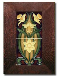 Porteous Double Daffodil  Gold 65C Framed