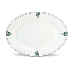 Dard Hunter Viennese Pendant China Oval Serving Platter