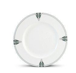 "Dard Hunter China Viennese Pendant 11"" Dinner Plate"