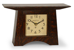 Schlabaugh and Sons Craftsman Mantel Clock  in Craftsman Oak