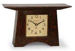 Schlabaugh and Sons Craftsman Mantel Clock  in Craftsman Oak