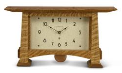 Craftsman Horizon Pendulum Clock by Schlabaugh and Sons. Shown in Nut Brown Oak.