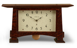 Craftsman Horizon Pendulum Clock by Schlabaugh and Sons. Shown her win Craftsman Oak.