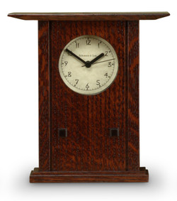 Schlabaugh and Sons Clock - Quartersawn White Oak with Craftsman Oak Finish