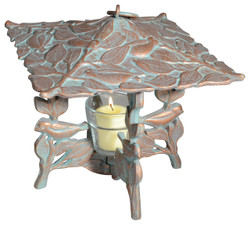 Copper Verdi Chickadee Twilight Lantern
