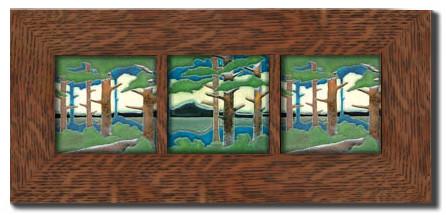 """Oak Park: 2"""" Wide Solid Oak Frame for 3  4"""" x 4"""" tiles"""