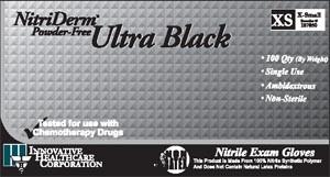 INNOVATIVE NITRIDERM ULTRA BLACK POWDER-FREE NITRILE SYNTHETIC GLOVES