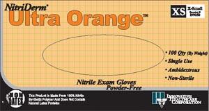 INNOVATIVE NITRIDERM ULTRA ORANGE POWDER-FREE EXAM GLOVES