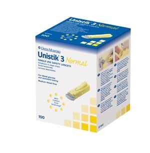 OWEN MUMFORD UNISTIK 3 PRE-SET SINGLE USE SAFETY LANCETS