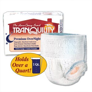PRINCIPLE BUSINESS TRANQUILITY PREMIUM OVERNIGHT DISPOSABLE ABSORBENT UNDERWEAR