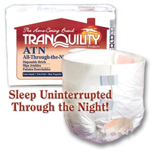 PRINCIPLE BUSINESS TRANQUILITY ALL-THROUGH-THE-NIGHT DISPOSABLE BRIEFS