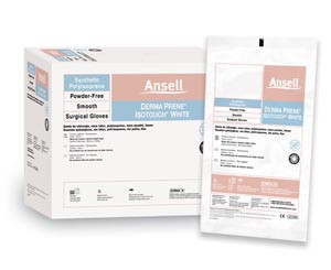 ANSELL GAMMEX NON-LATEX PI WHITE POWDER-FREE SYNTHETIC SURGICAL GLOVES
