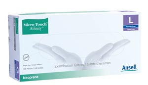 ANSELL MICRO-TOUCH AFFINITY SYNTHETIC EXAM GLOVES