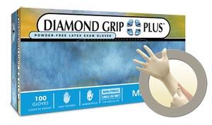 ANSELL MICROFLEX DIAMOND GRIP PLUS POWDER-FREE LATEX EXAM GLOVES