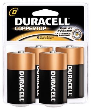 DURACELL COPPERTOP ALKALINE RETAIL BATTERY WITH DURALOCK POWER PRESERVE TECHNOLOGY