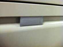 Card Paper Label Holders and Inserts for Haworth File Cabinets