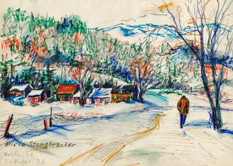 Winter Walk, Berlin, Vermont