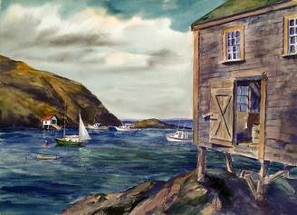 Monhegan Harbor, Maine