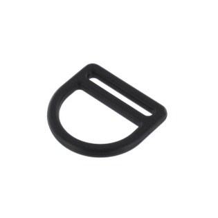"1"" Plastic Double Bar D Ring"