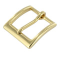 "T2379 1 1/4"" Natural Brass, Heel Bar Buckle, Solid Brass-LL"