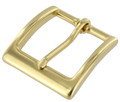 "T2379 1 1/2"" Natural Brass, Heel Bar Buckle, Solid Brass-LL"