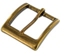 "T2379 1 1/2"" Antique Brass, Heel Bar Buckle, Solid Brass-LL"