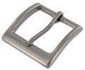 "T2379 1 1/2"" Nickel Matte, Heel Bar Buckle, Solid Brass-LL"