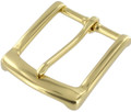 "B7106 1 1/2"" Natural Brass, Heel Bar Buckle, Solid Brass-LL"