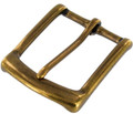 "B7106 1 1/2"" Antique Brass, Heel Bar Buckle, Solid Brass-LL"