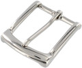 "B7106 1 1/2"" Nickel Plate, Heel Bar Buckle, Solid Brass-LL"