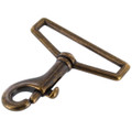 "3001A 2"" *Dark* Antique Brass, Swivel Bolt Snap, Solid Brass-LL"